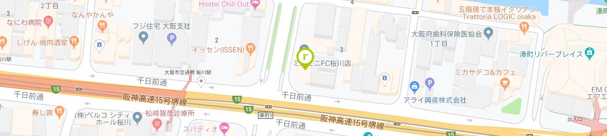 青山アール矯正歯科 大阪院のマップ