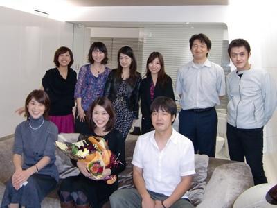 受付の中村さんの送別会