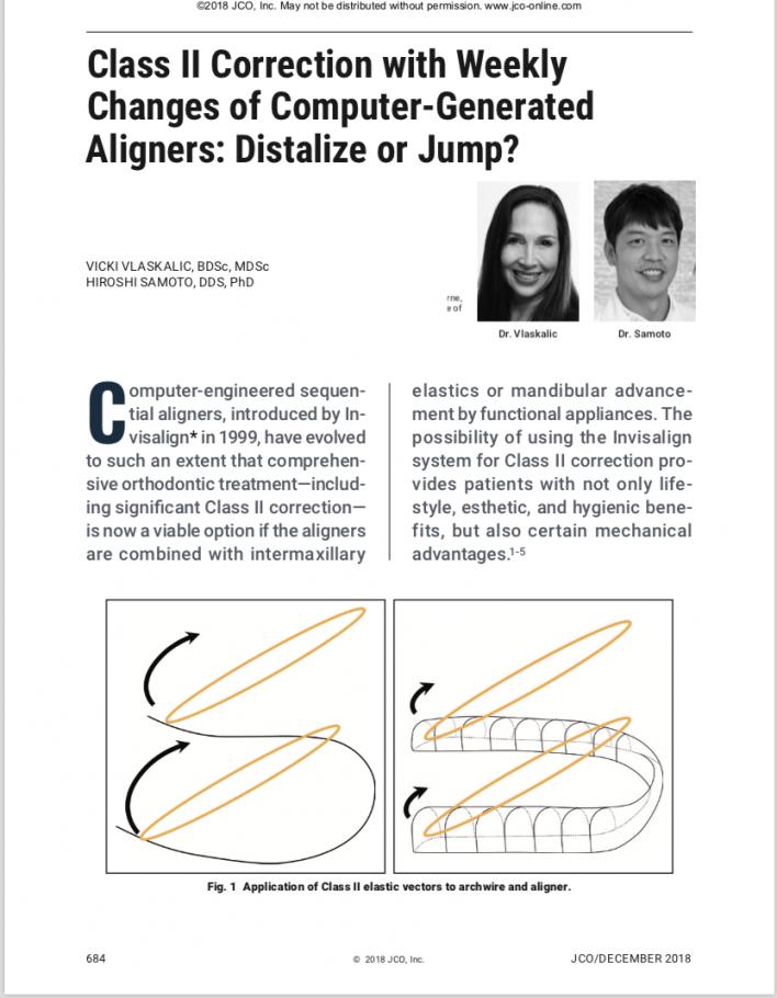 世界的に有名な矯正歯科雑誌(JCO)に佐本先生の論文が掲載されました。
